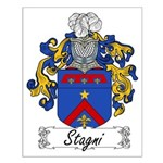 Stagni Family Crest Small Poster