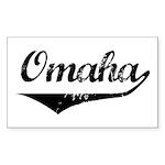 Omaha Rectangle Sticker