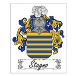 Stagno Family Crest Small Poster