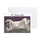 Fuzzy Lop Rabbit Sympathy Cards (Pk of 20)