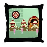 No Evil Sock Monkey Ice Cream Throw Pillow