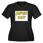 Super guy Women's Plus Size V-Neck Dark T-Shirt