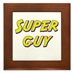 Super guy Framed Tile