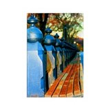 Central Park Bench Rectangle Magnet (10 pack)