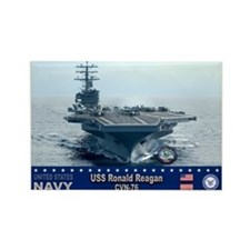 USS Ronald Reagan CVN-76 Rectangle Magnet (100 pac