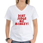 Monkey Judge Women's V-Neck T-Shirt