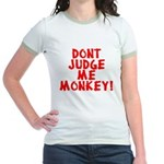Monkey Judge Jr. Ringer T-Shirt