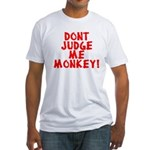 Monkey Judge Fitted T-Shirt