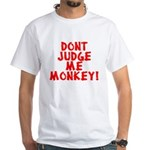 Monkey Judge White T-Shirt