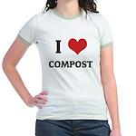 I Love Compost Jr. Ringer T-Shirt