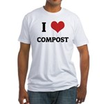 I Love Compost Fitted T-Shirt