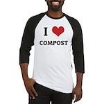 I Love Compost Baseball Jersey