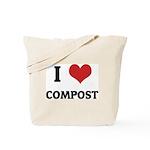 I Love Compost Tote Bag
