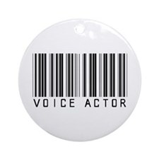 Voice Actor Barcode Ornament (Round)