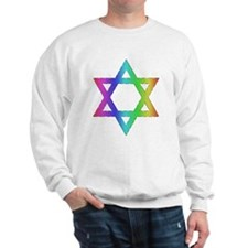 Gay Pride Star of David Sweatshirt