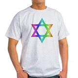 Gay Pride Star of David T-Shirt