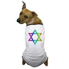 Gay Pride Star of David Dog T-Shirt