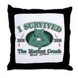 I survived the Wall Street Crash 2008 Throw Pillow