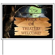 Creepy Trick or Treaters Welcome! Yard Sign