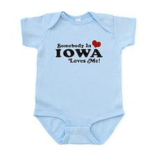 Somebody In Iowa Loves Me Infant Bodysuit