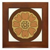 White Lotus Framed Tile