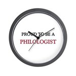 Proud to be a Philologist Wall Clock