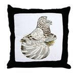 English Trumpeter Brown Splas Throw Pillow