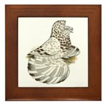 English Trumpeter Brown Splas Framed Tile