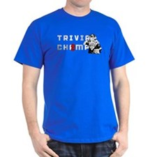 Trivia Chimp Etched White T-Shirt