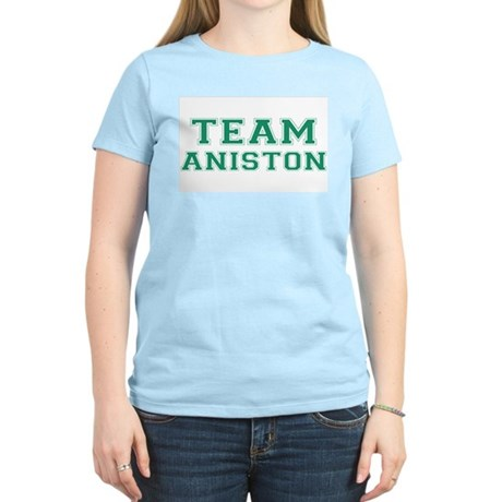 Team Aniston Womens Pink T-Shirt