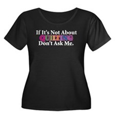 Quilting Women's Plus Size Scoop Neck Dark T-Shirt