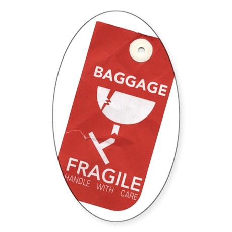 Fragile/handle with care Oval Sticker