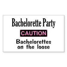 Bachelorettes on the Loose Rectangle Decal