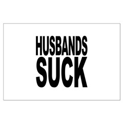 Husbands Suck Large Poster