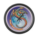 Magic Moon Dragon Large Wall Clock