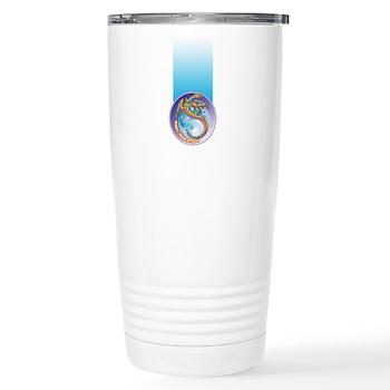 Magic Moon Dragon Stainless Steel Travel Mug