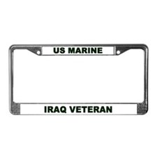 License Plate Frame/US MARINE IRAQ VETERAN