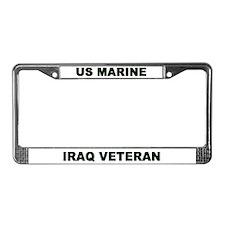 License Plate Frame/US MARINE IRAQ VETERAN