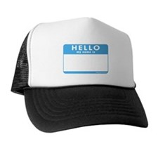 Blank Name Tag Trucker Hat