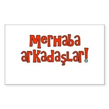 Hello Friends Turkish Rectangle Decal