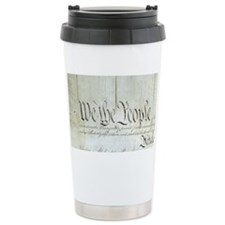 We The People Ceramic Travel Mug