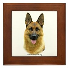 German Shepherd 9B51D-11 Framed Tile