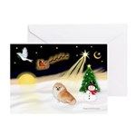 Night Flight/Pomeranian #2 Greeting Card