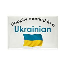 Happily Married Ukrainian 2 Rectangle Magnet