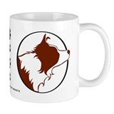 Border Collie Head R&amp;W Small Mug