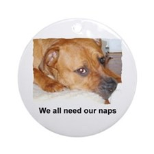 WE ALL NEED OUR NAPS Ornament (Round)