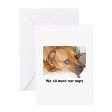 WE ALL NEED OUR NAPS Greeting Card