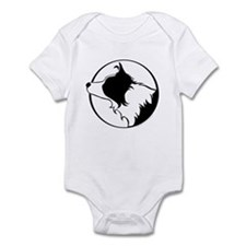 Border Collie Head B&W Infant Bodysuit