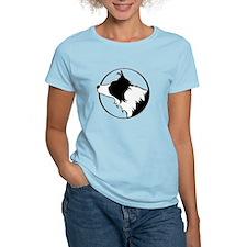 Border Collie Head B&W T-Shirt