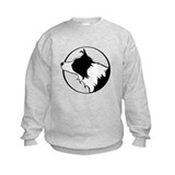 Border Collie Head B&W Sweatshirt